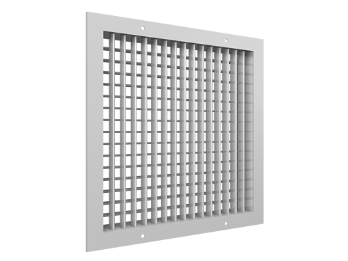 Double deflection supply grille