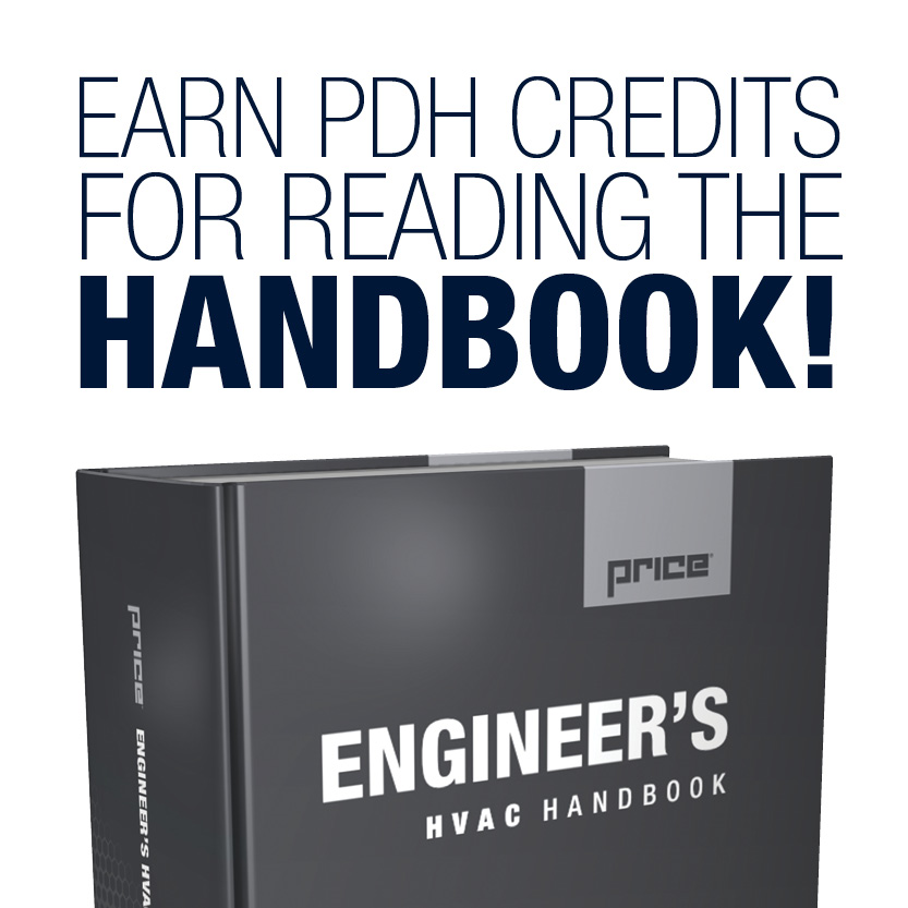 earn PDH credits for reading the Price Engineer's HVAC Handbook