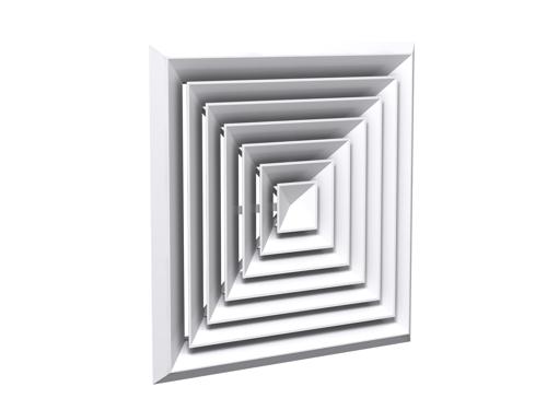 Square modular diffuser